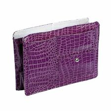 Purple Medium Croco Purse Organizer Bag Insert Divider