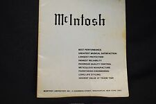 McIntosh Dealers Catalog Speakers Tuners Power Amps Integrated Very Good Shape