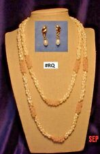 "Two (18"" & 24"") Triple-strand Fresh-water Pearl necklaces & 1 Pair FWP Earrings"