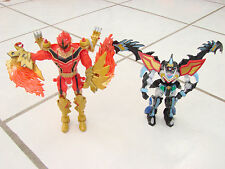 "Power Rangers lot of 2 1 red Ranger Transforming and 1 other 5-6"" Bandai 05&08"