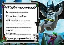 5 cartes invitation anniversaire  Lego Batman 04   d'autres en vente !!