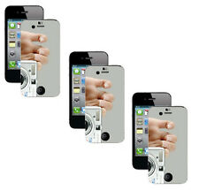 10 x Premium Mirror Pre Cut Screen Protector for Apple iPhone 4G