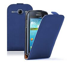 ULTRA Slim Blu Flip Case Cover Custodia per Samsung Galaxy Core GT-i8260