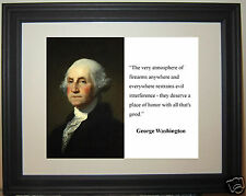 "George Washington ""the very atmoshpere of"" Famous Quote Framed Photo Picture #e1"