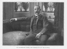 Dr Rutherford Harris MP for Dulwich - Antique Photographic Print 1903