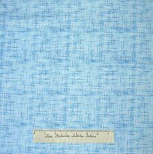 Nautical Fabric - Light Blue & White Basket Weave - Timeless Treasures 27""