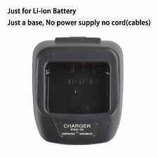 Base no power supply for Kenwood TK-3000T2 Walkie Talkie Li-ion Battery Charger