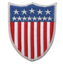 Smaller American National Flag United States Shield Badge Iron On Applique Patch