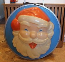 Vintage Antique Celluloid Santa Claus Sign Advertising Double Sided  Cira 1950s