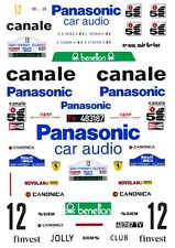 #12 Panasonic Ferrari 308GTB 1982 1/43rd Scale Slot Car Decals Custom label:  1