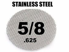 "100x Stainless Steel Tobacco Pipe Screens - USA Made - 5/8"" .625"" Size"