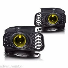 99-03 Ford F150 Yellow Halo Projector Fog Lights Front Driving Lamps PAIR