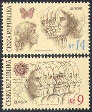 Czech Republic 1995 Europa/Peace/Freedom/Butterfly/Rose/Women 2v set (n40945)