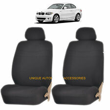BLACK ELEGANCE AIRBAG COMPATIBLE LOWBACK SEAT COVERS SET for BMW 3 5 7 SERIES X1