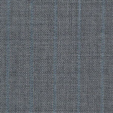 Holland and Sherry Grey with Blue Stripe All Wool Suiting - 3.50 Mtrs
