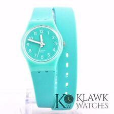 Swatch Women's Originals LL115 Green Mint Rubber Quartz Watch