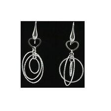 60mm Silver Dangling Fancy Earrings With Hook Style Backing #PVE22