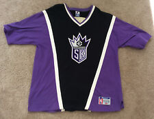 Sacramento Kings 1990's Vintage NBA Champion Shooting Warm Up Shirt XL
