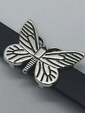 Large Butterfly Slide Charm Fits Keep Collective - Color: Antique Silver