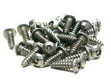 "(100) NEW #6 X 1/2"" STAINLESS STEEL BUTTON HEAD HEX (ALLEN) TAMPER PROOF SMS RL"