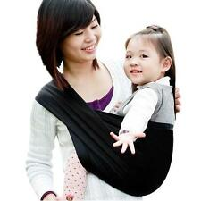 Black Cotton Baby Newborn Sling Carrier Wrap Pouch Brandnew Breathable HOT IN