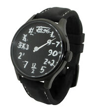 Time Equation Watch: Single Hand Math IQ unique uno geek art script blackboard