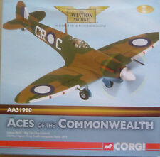 CORGI AVIATION ARCHIVE-AA31910 SPITFIRE MKVC CLIVE CALDWELL OC NO 1 FIGHTER WING