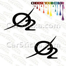 """2 of 5"""" Oxygen O2 Audio /A aftermarket car window bumper stickers decals"""