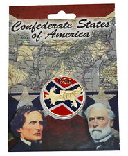 Civil War Coloured Confederate States Of America Collectors Coin New In Wallet