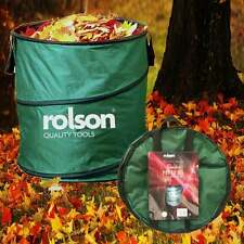 Rolson Garden Pop Up Bin Carry Handles & Tipping Strap Waste Refuse Grass Leaves