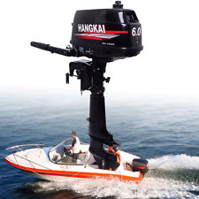 Outboard Motor Fishing Boat Outboard Engine Water Cooling System 6HP 2-Stroke US