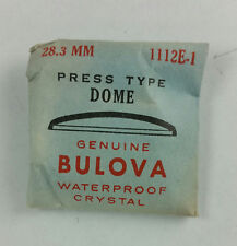 VINTAGE BULOVA PRESS TYPE DOME WATCH CRYSTAL - 28.3mm - PART# 1112E-1