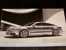 AUDI A7 & S7 Sportback - UK 2014-15  82 page Colour Car Range Brochure Spec Book