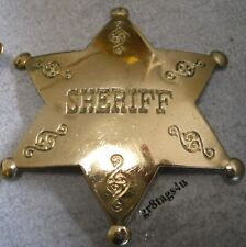 'Sheriff' Old west police polished brass badge P116
