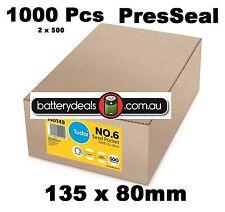 1000 Tudor No.6 Seed Pocket Envelope PRESSEAL 135x80mm 140149 Gold plainface No6
