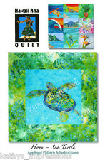 SEA TURTLE Quilt Pattern Hawaiian Honu Tropical Uses Needle Turn Hand Applique