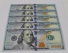 5 New Uncirculated Hundred Dollar Bills Two $100 Notes  2009 A