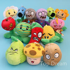Plants vs Zombies Plush Toys Soft Stuffed Dolls Brinquedos 14 Pcs Set Kids Gift
