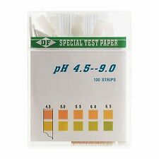 100 STRIPS pH DUAL TEST STRIPS KIT URINE & SALIVA pH FOR BODY LEVELS