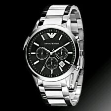 Armani AR 2434 Black Dial's Men's Chronograph Watch Extra