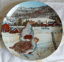 """THE GRAY PARTRIDGE"" Upland Birds of North America, Anderson Plate w/COA (8.5"")"
