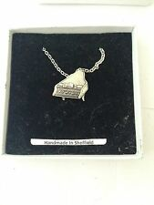 Piano PP-M12 Emblem Silver Platinum Plated Necklace 18""