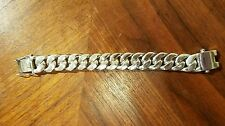 219 Gram HEAVY CUBAN CURB LINK 100% STERLING SILVER 21 MM MEN'S BRACELET 8 1/2""