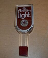 Vintage Old Milwaukee Light Lucite Beer Tap Handle Tapper Knob