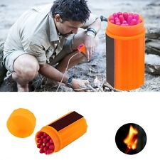 Outdoor Stormproof Windproof Waterproof Matches Kit Orange Case 20 Matches FT