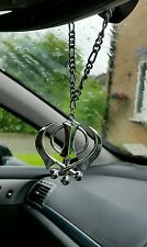 Silver Plated Punjabi Sikh Khanda No Stones Stunning Pendant for Car Rear Mirror