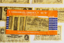 American Civil War Confederate Replica Currency Money Parchment Banknotes Set D