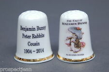 Benjamin Bunny, Peter Rabbit's Cousin 1904-2014 by Beatrix  Potter Thimble B/143