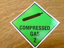 COMPRESSED GAS Van Truck LAMINATED Decal Stickerf 150mm
