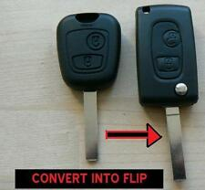 PEUGEOT 2 BUTTON FLIP REMOTE FOB KEY CASE 107 207 307 206 306 406 CONVERSION KEY